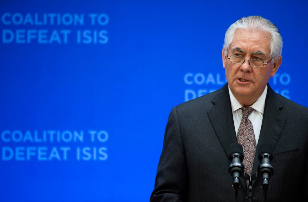 Rex Tillerson speaking (© AP Images)