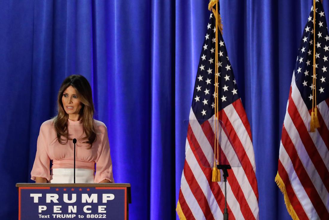 Melania Trump at podium (© AP Images)
