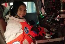 Alyssa Carson en un simulador espacial (Foto cedida por Alyssa Carson)