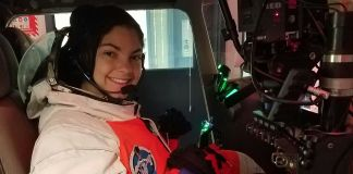 Alyssa Carson in space simulator (Courtesy of Alyssa Carson)