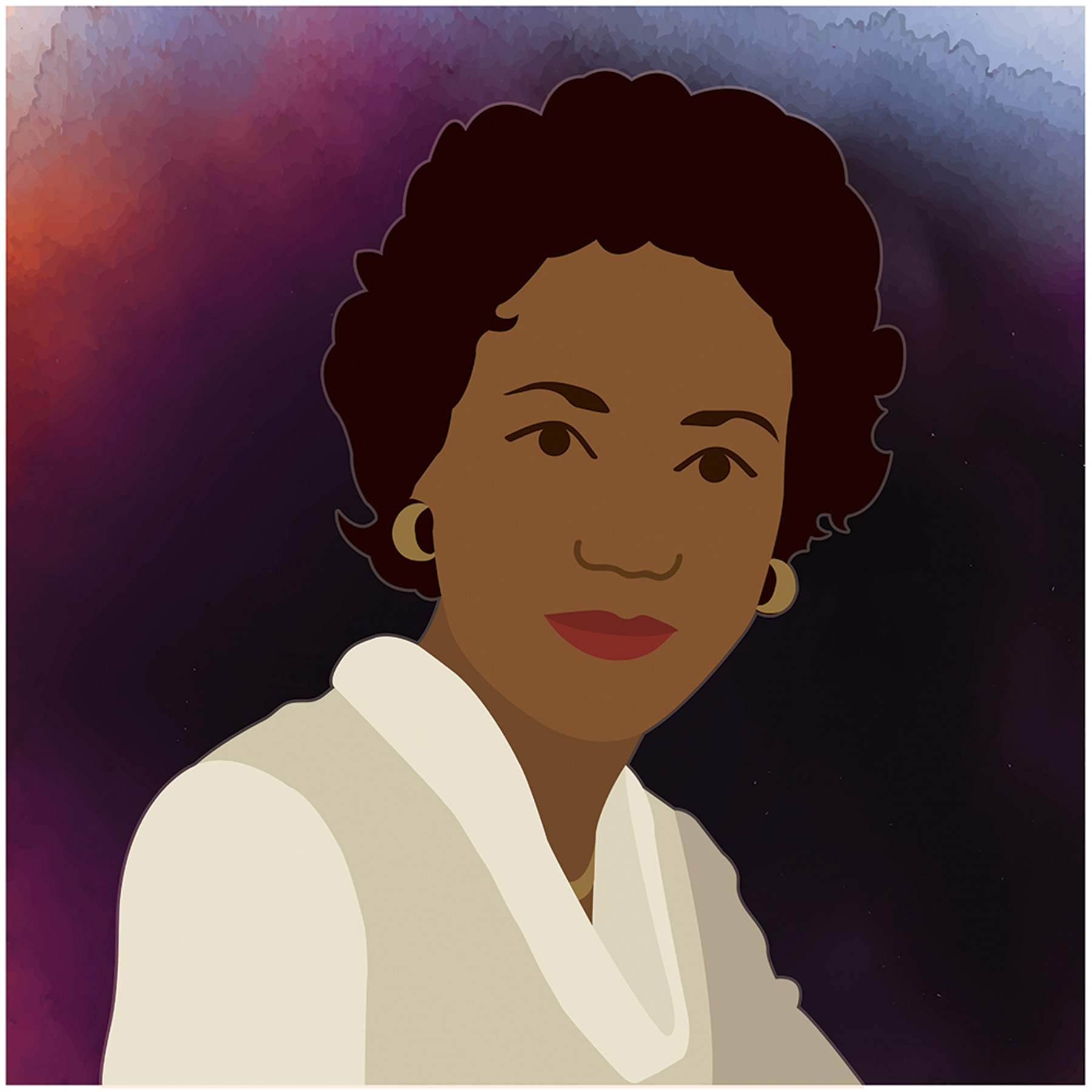 Posterized portrait of scientist Annie Easley (Energy.gov)