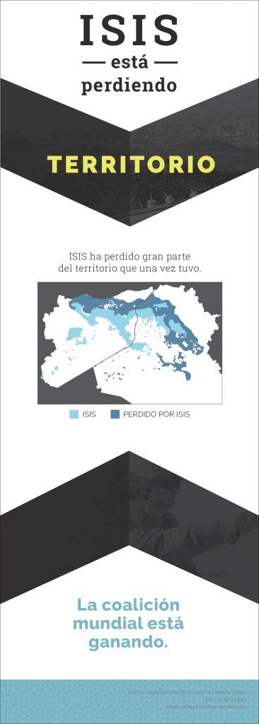 Gráfica muestra territorio perdido por ISIS (Depto. de Estado)