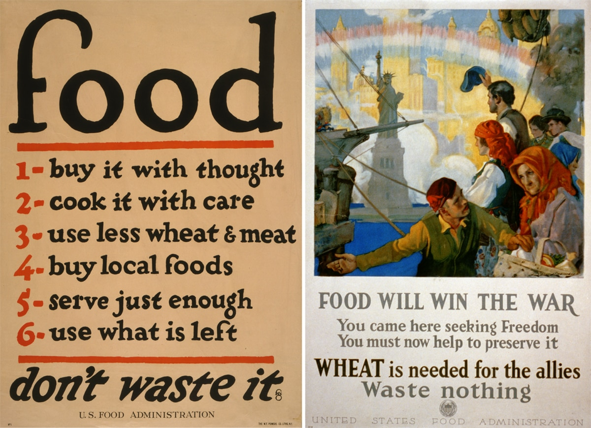 Two World War I posters (Library of Congress)