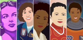 Composite of illustrations of five women (Energy.gov)