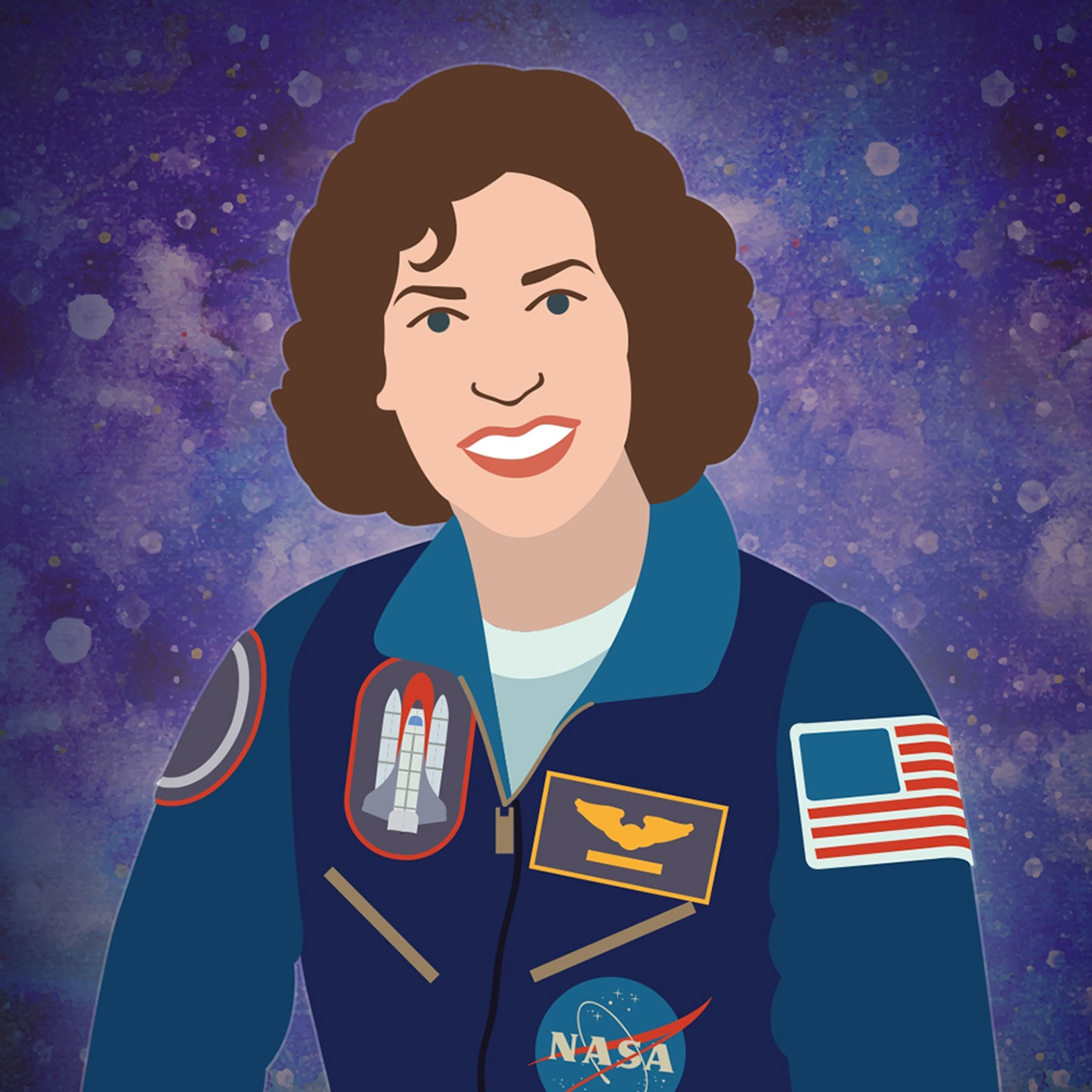 Posterized portrait of astronaut Ellen Ochoa (Energy.gov)