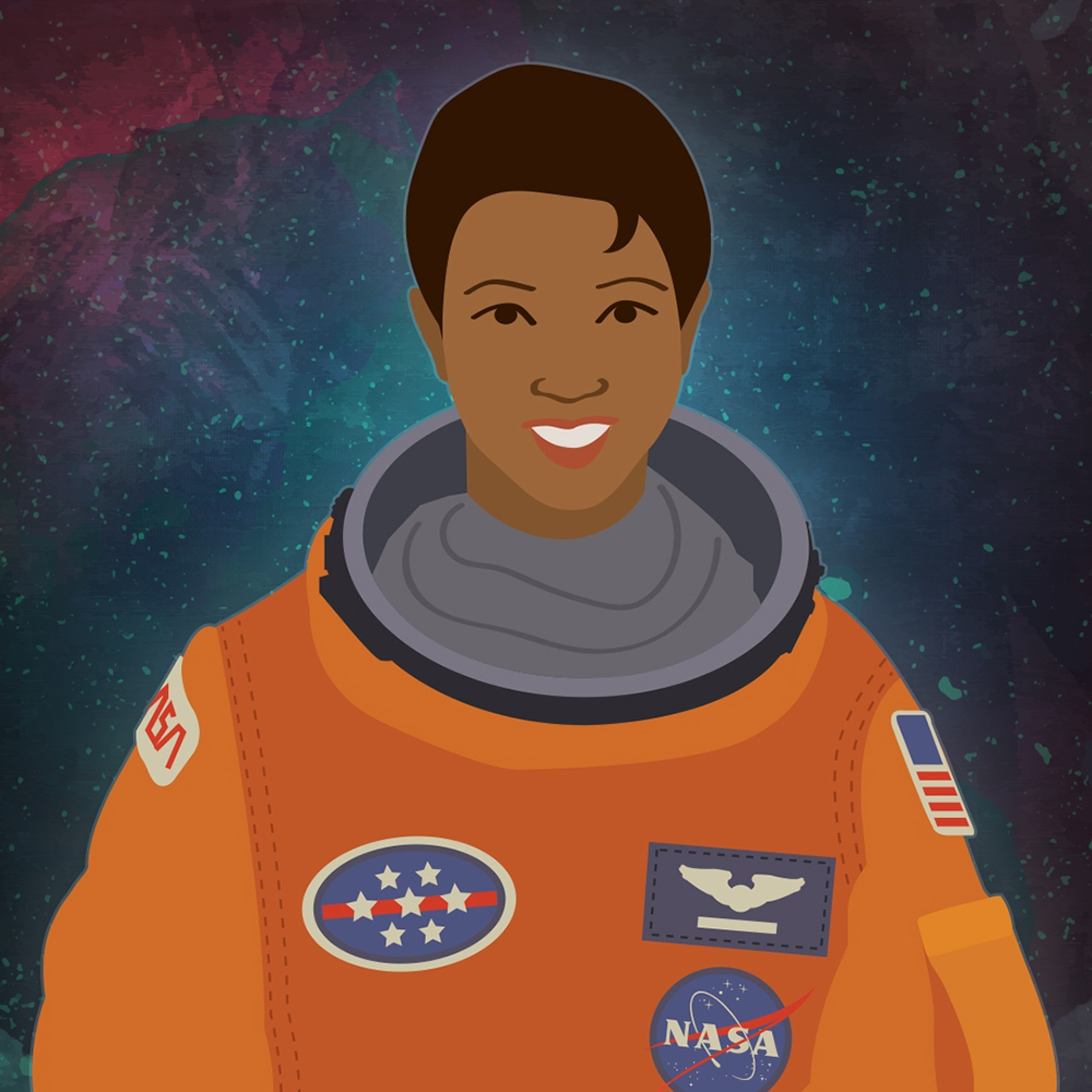 Posterized portrait of astronaut Mae Jemison (Energy.gov)