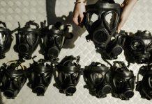 Máscaras de gás (© Ian Waldie/Imagens Getty)