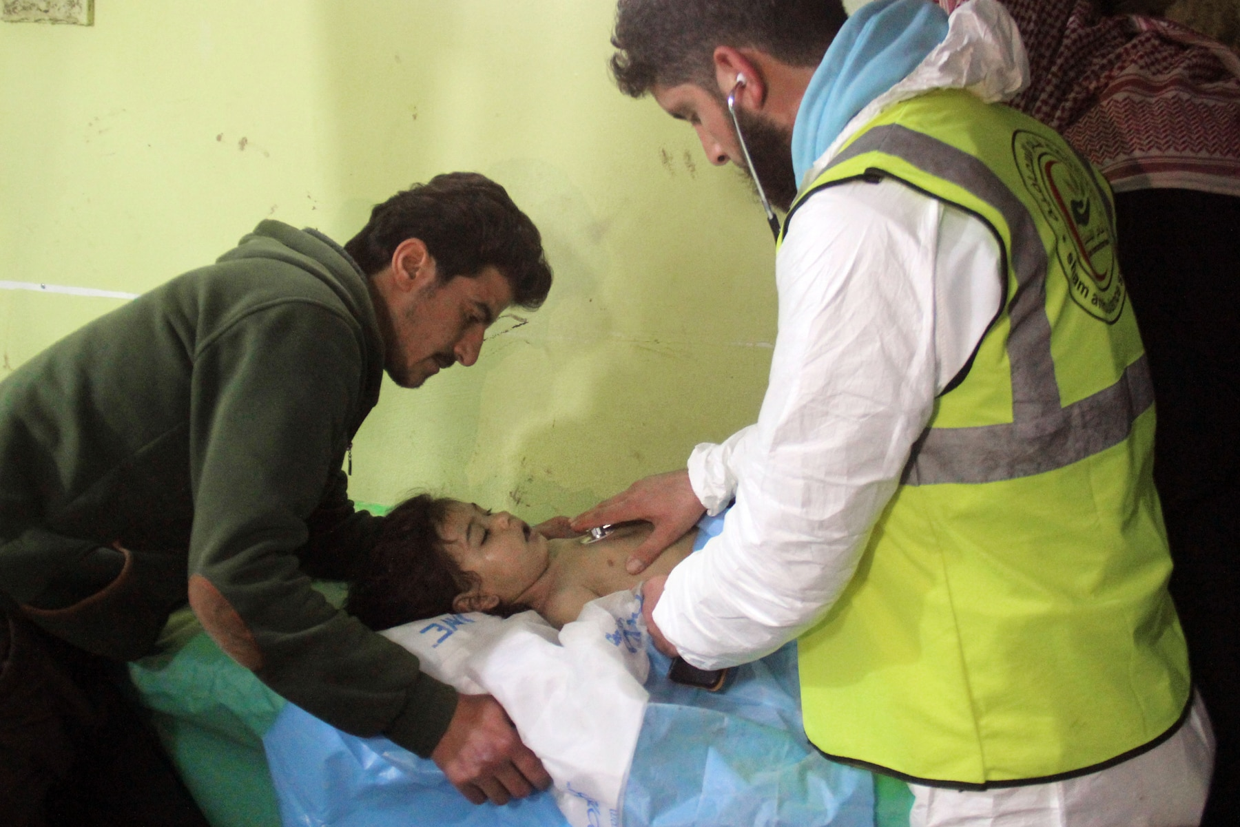 Syrian child receiving treatment at a hospital (© AFP via Getty Images)
