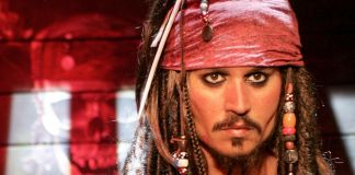 Statue de cire de Johnny Depp en Jack Sparrow dans le film « Pirates des Caraïbes » (© Ferdaus Shamim/WireImage/Getty Images)