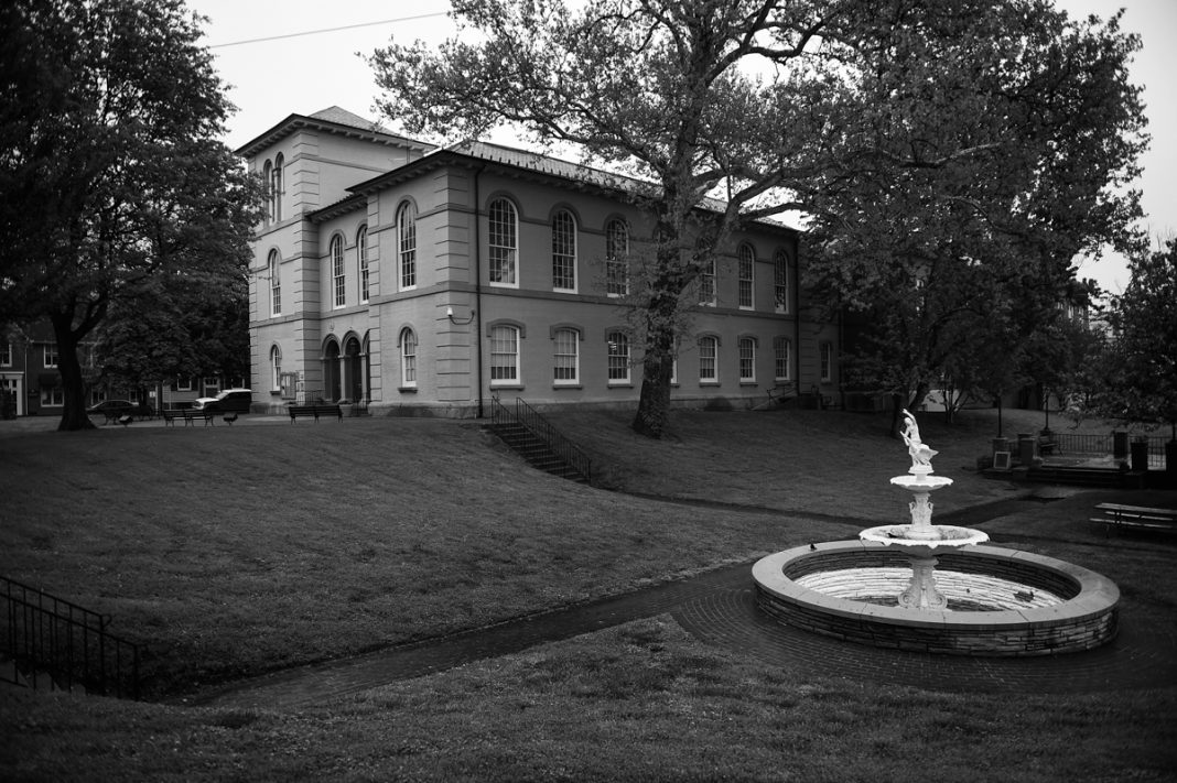 Historic building with fountain in yard (State Dept./Astrid Reicken)