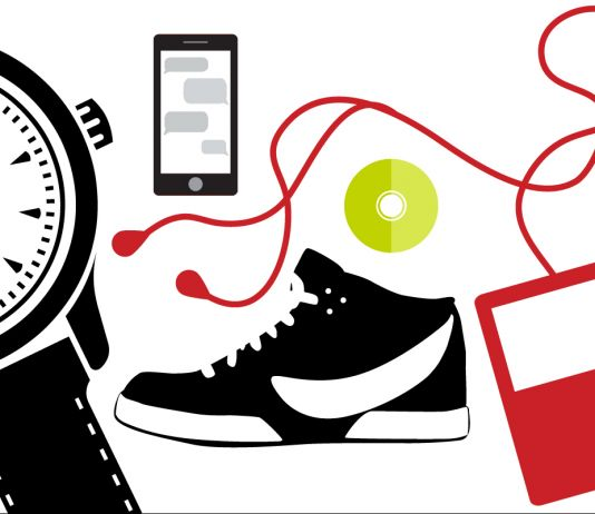 Illustration of watch, phone, shoe, iPod (D. Woolverton/State Dept.)