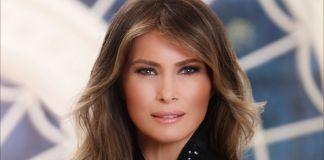 Retrato oficial de la Casa Blanca de la primera dama Melania Trump. (La Casa Blanca)