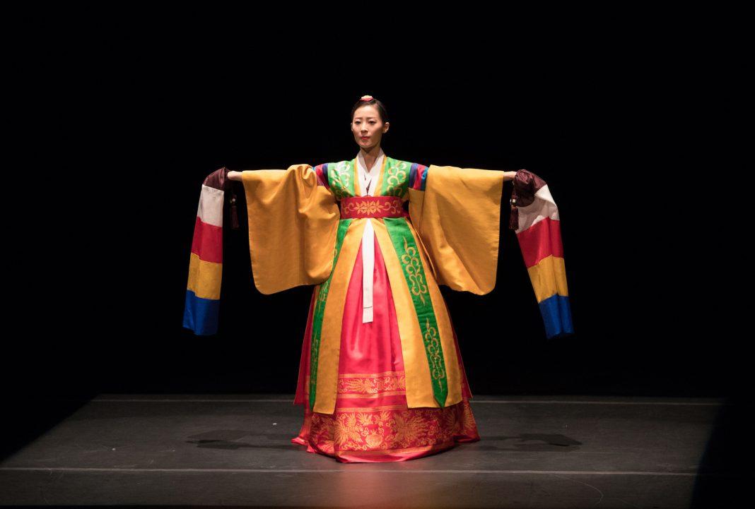 Woman wearing colorful Korean clothing (Korean Cultural Center Washington, D.C.)