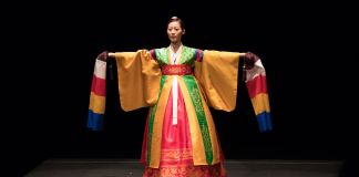 Woman wearing colorful Korean clothing (Korean Cultural Center Washington, D.C.)