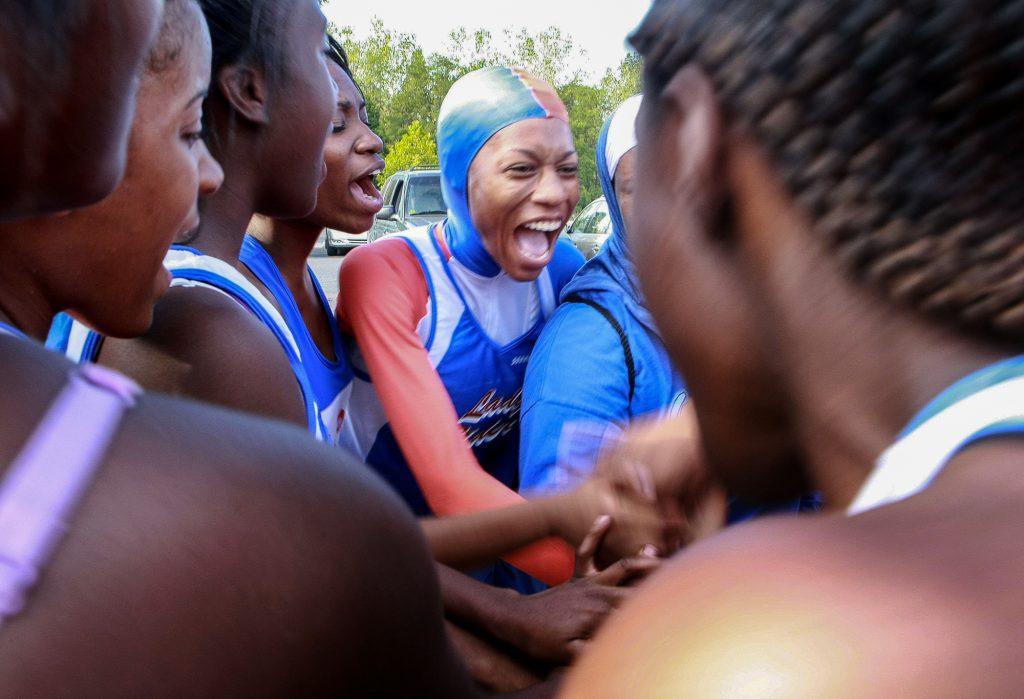 Female runners celebrating (© Washington Post/Getty Images/Preston Keres)