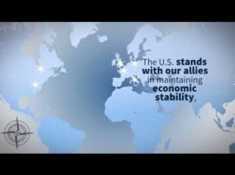 Video screenshot showing global map (State Dept.)