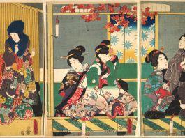 Japanese triptych painting (Metropolitan Museum of Art)
