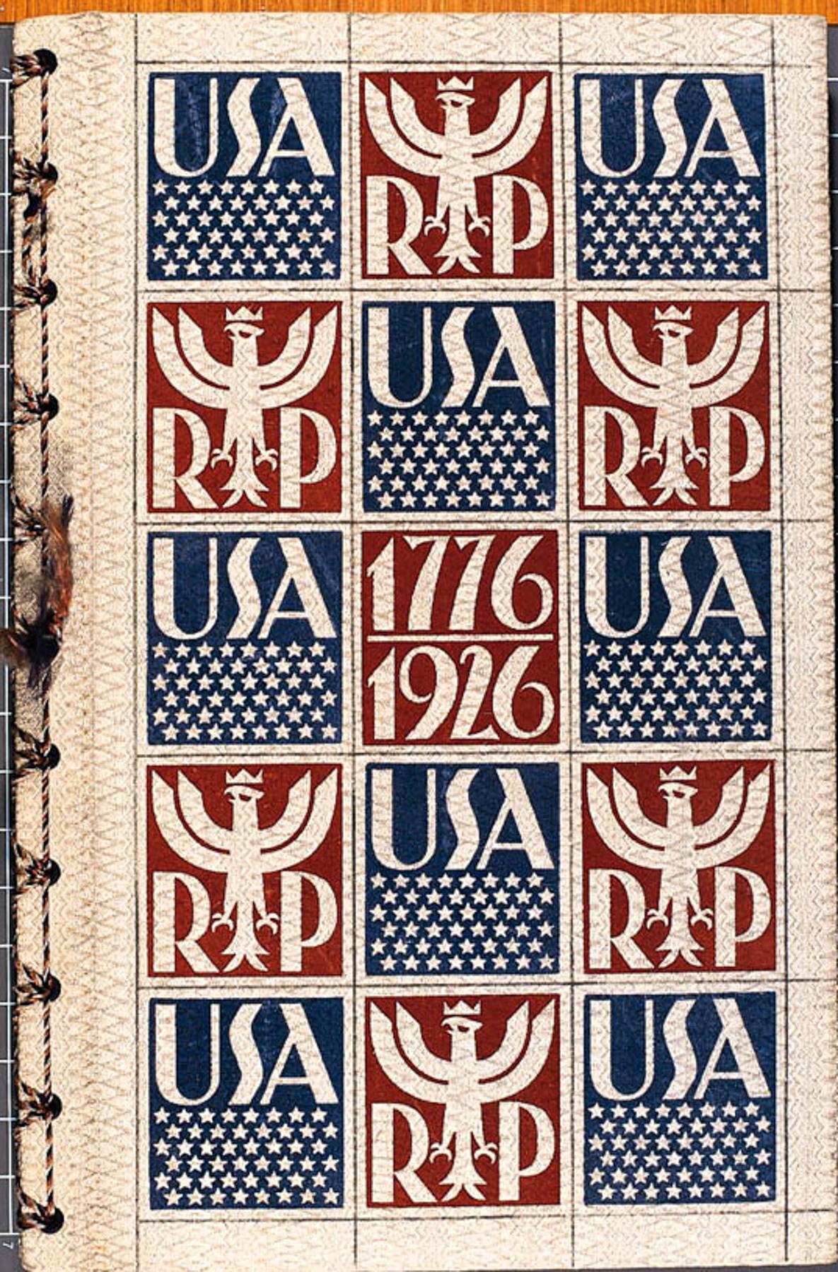 Linen binding of Polish book (LIbrary of Congress)