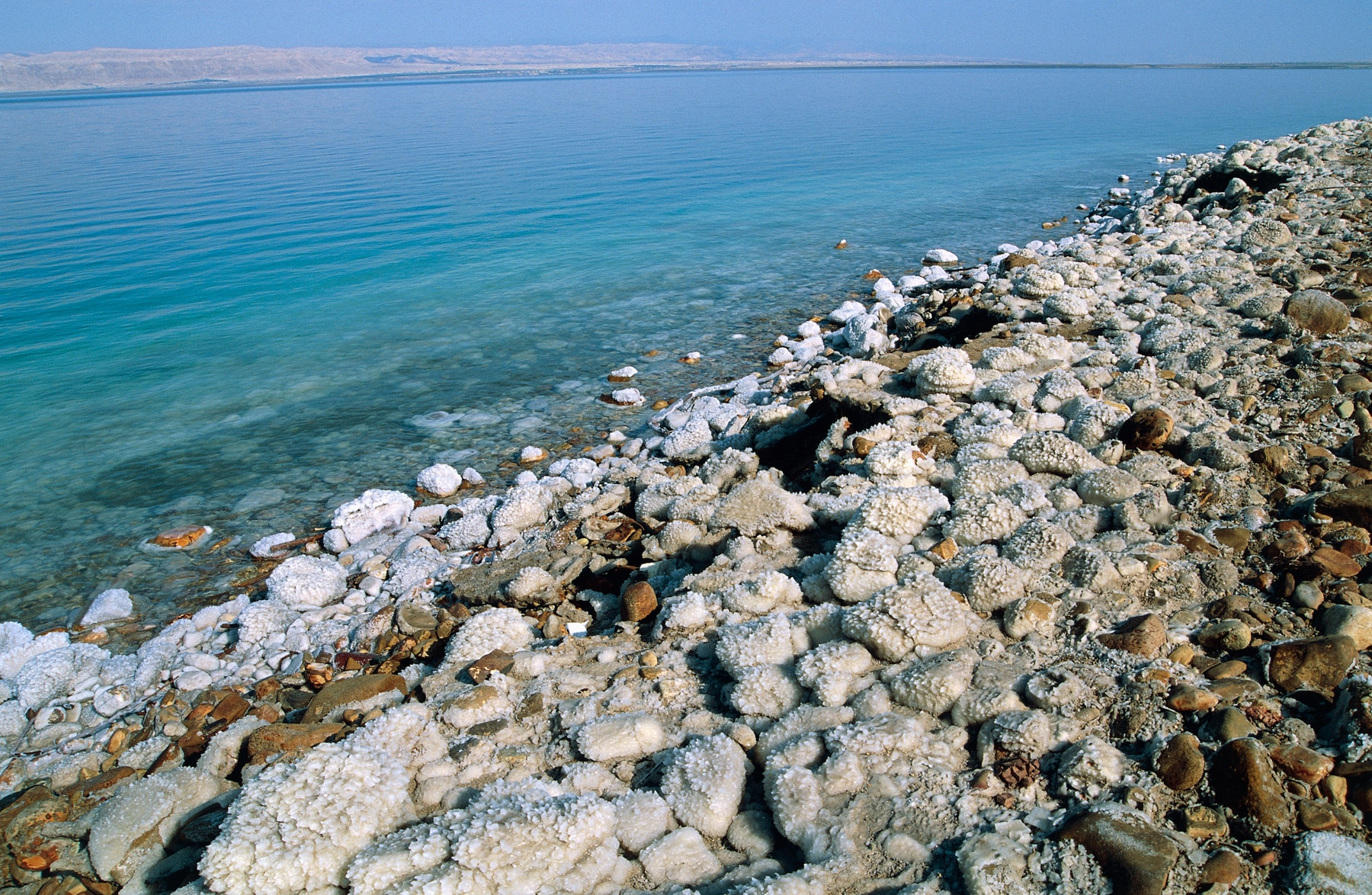 Salt concretions lying on the shore of the Dead Sea (© Getty Images)