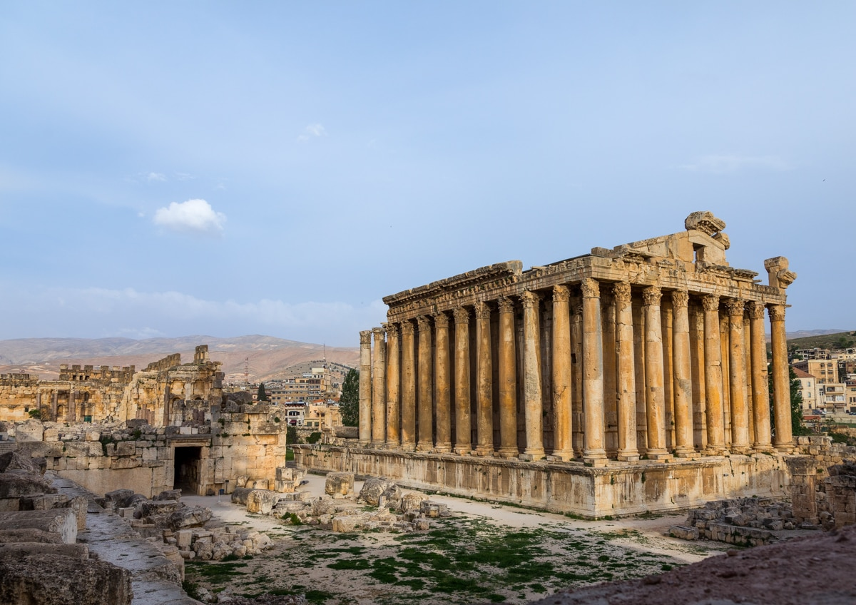 Ancient temple with many columns (© Eric Lafforgue/Art In All Of Us/Corbis/Getty Images)