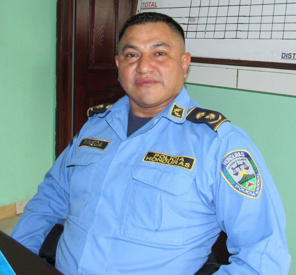 Commander Pineda, seated (U.S. Embassy Tegucigalpa)