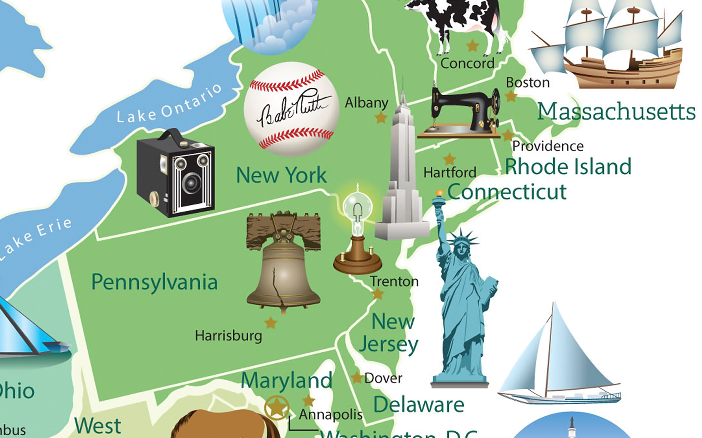 Map Of Us Landmarks Download this free poster of famous U.S. landmarks | ShareAmerica