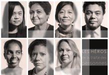 Grille composée de 7 portraits (Département d'État / D. Peterson)