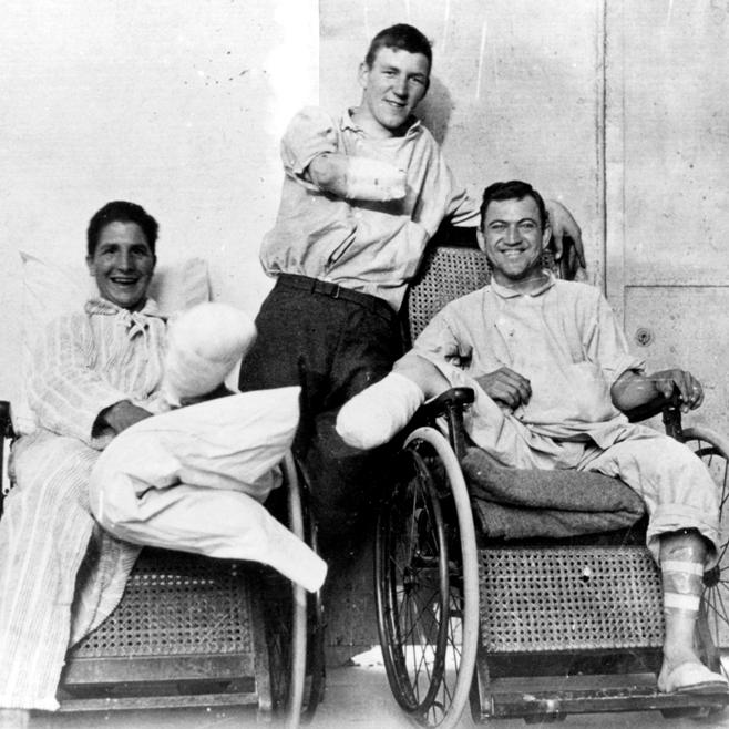 Инвалиды Первой мировой войны (National Library of Medicine)