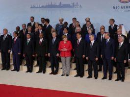 Grupo de dirigentes mundiales posa para foto (La Casa Blanca)