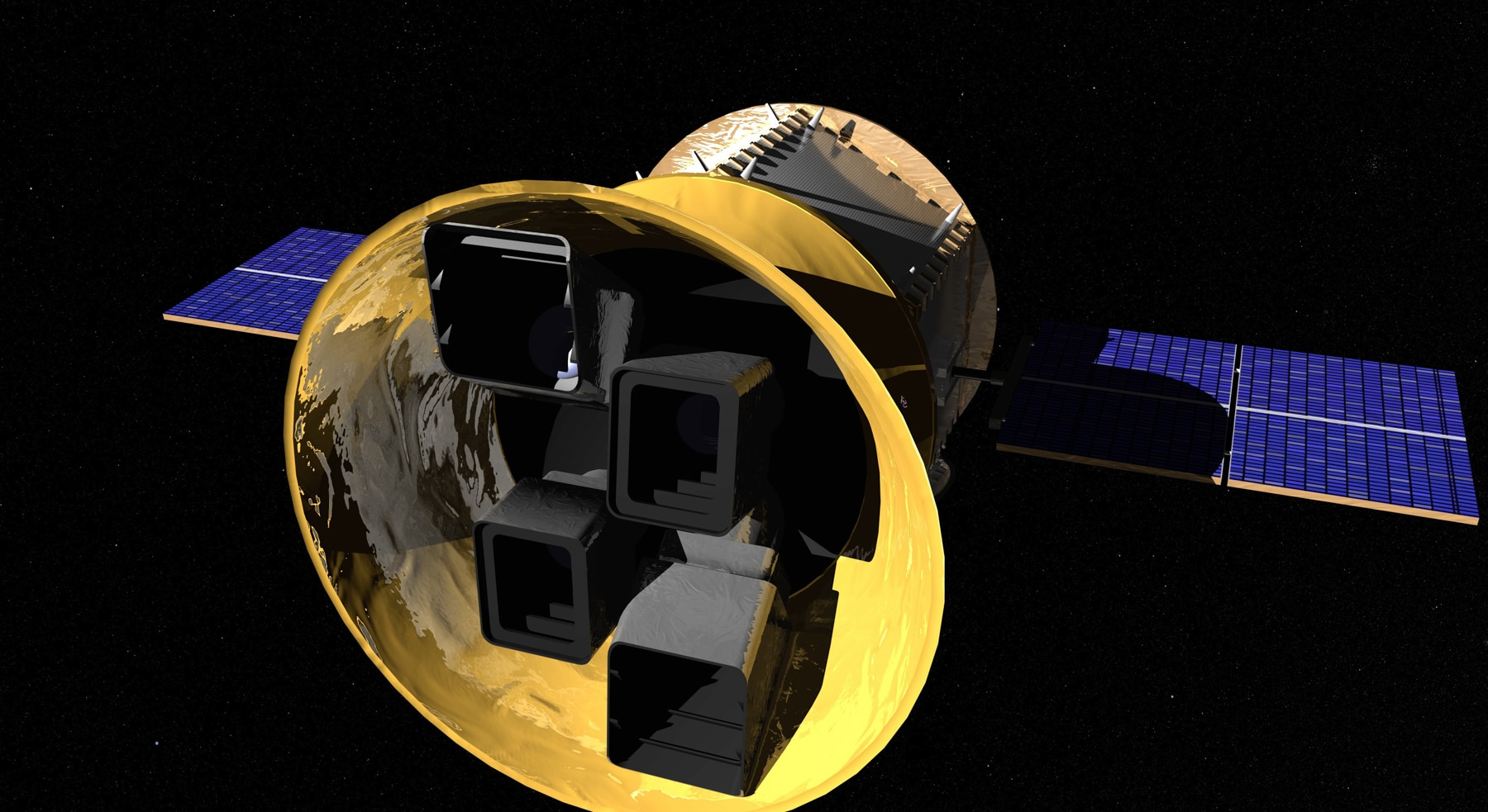 Concepción artística de un telescopio en el espacio (NASA)