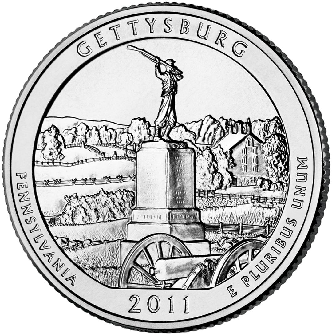 Gettysburg National Military Park quarter (U.S. Mint)