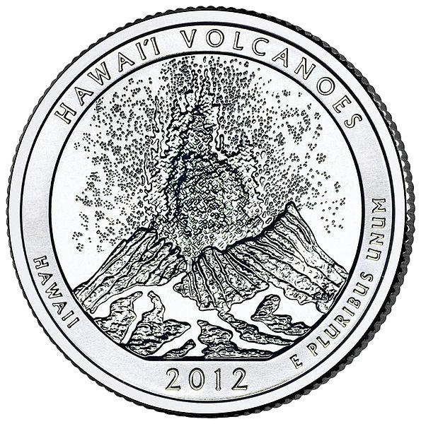 Hawaii Volcanoes National Park quarter (U.S. Mint)