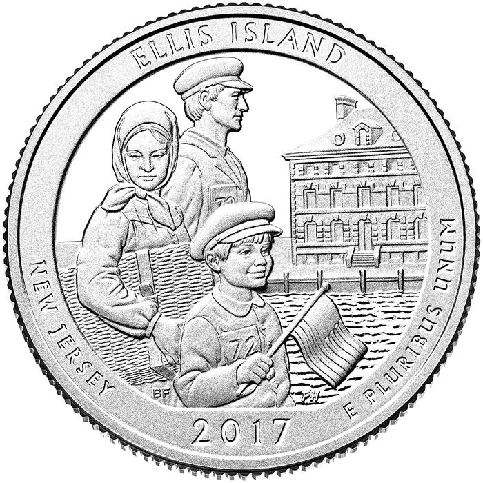 Ellis Island National Monument quarter (U.S. Mint)