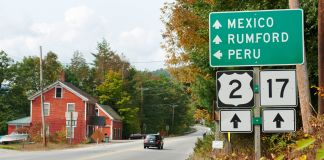 Road signs on a highway (© Alamy)