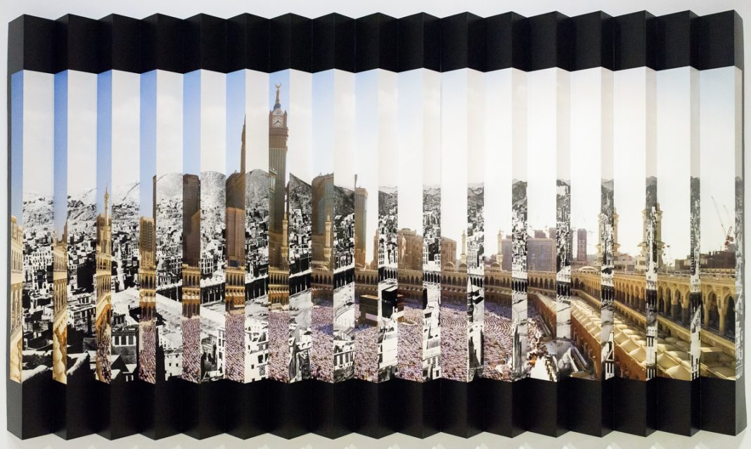 Lenticular photo montage (© Doug Coombe/Arab American National Museum)