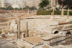 Ancient Roman amphitheater site (© MuslimPhotos.Net/Athar Akram/Alamy)