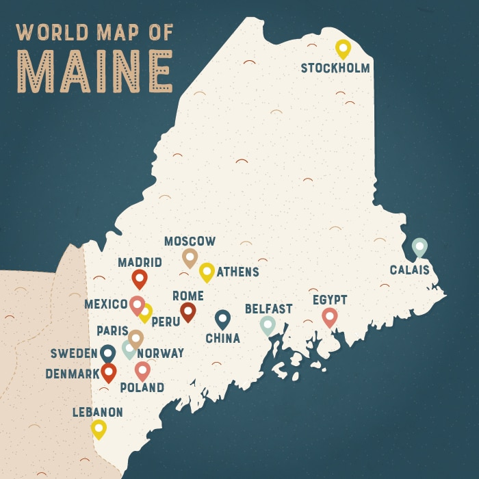Travel The World Without Leaving This US State ShareAmerica - Maine cities map