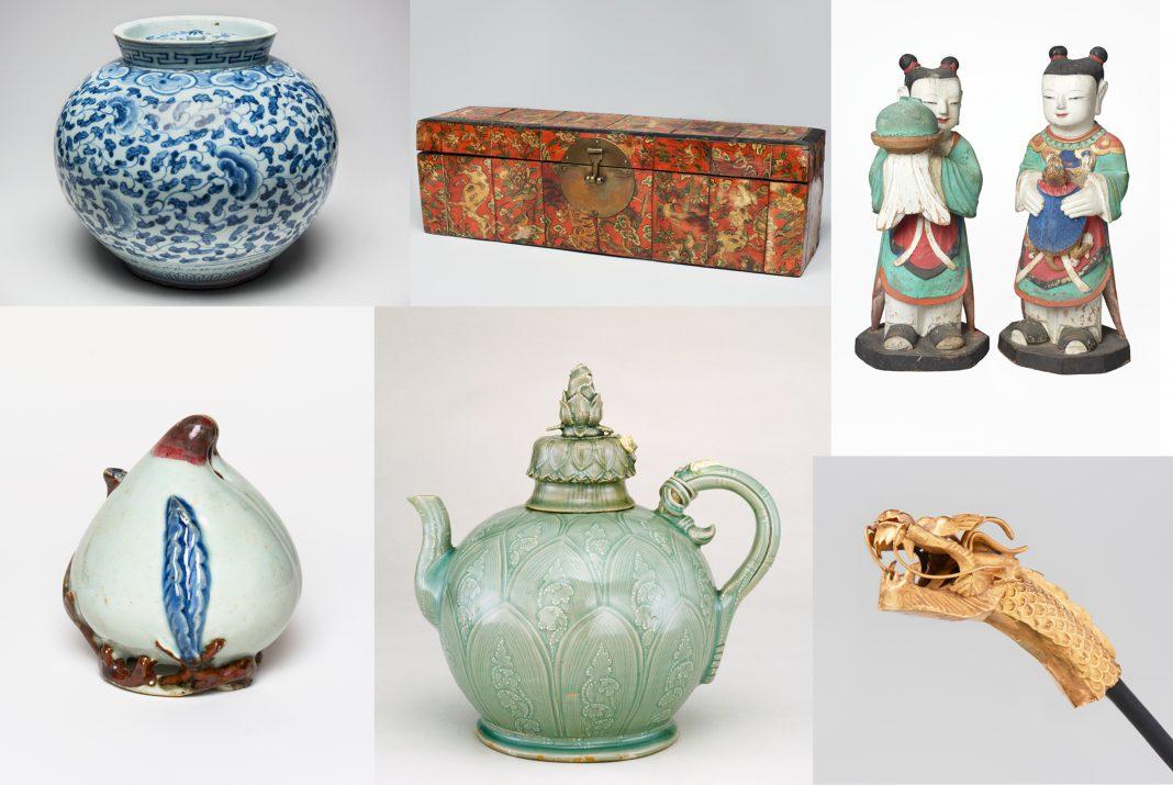 Photo collage of 6 artifacts (© Jonathan Dorado/Brooklyn Museum)