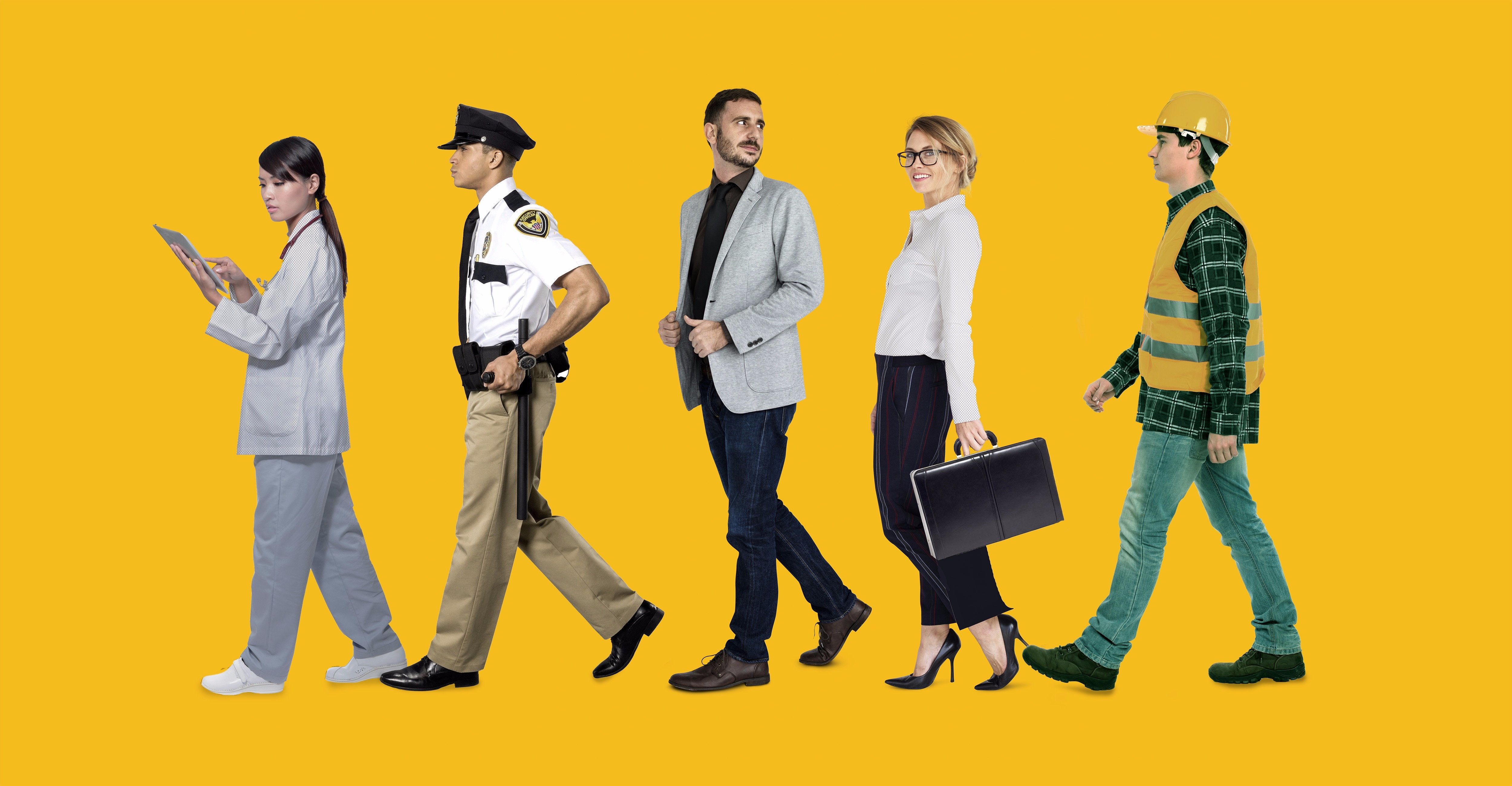 Various American workers (Shutterstock)