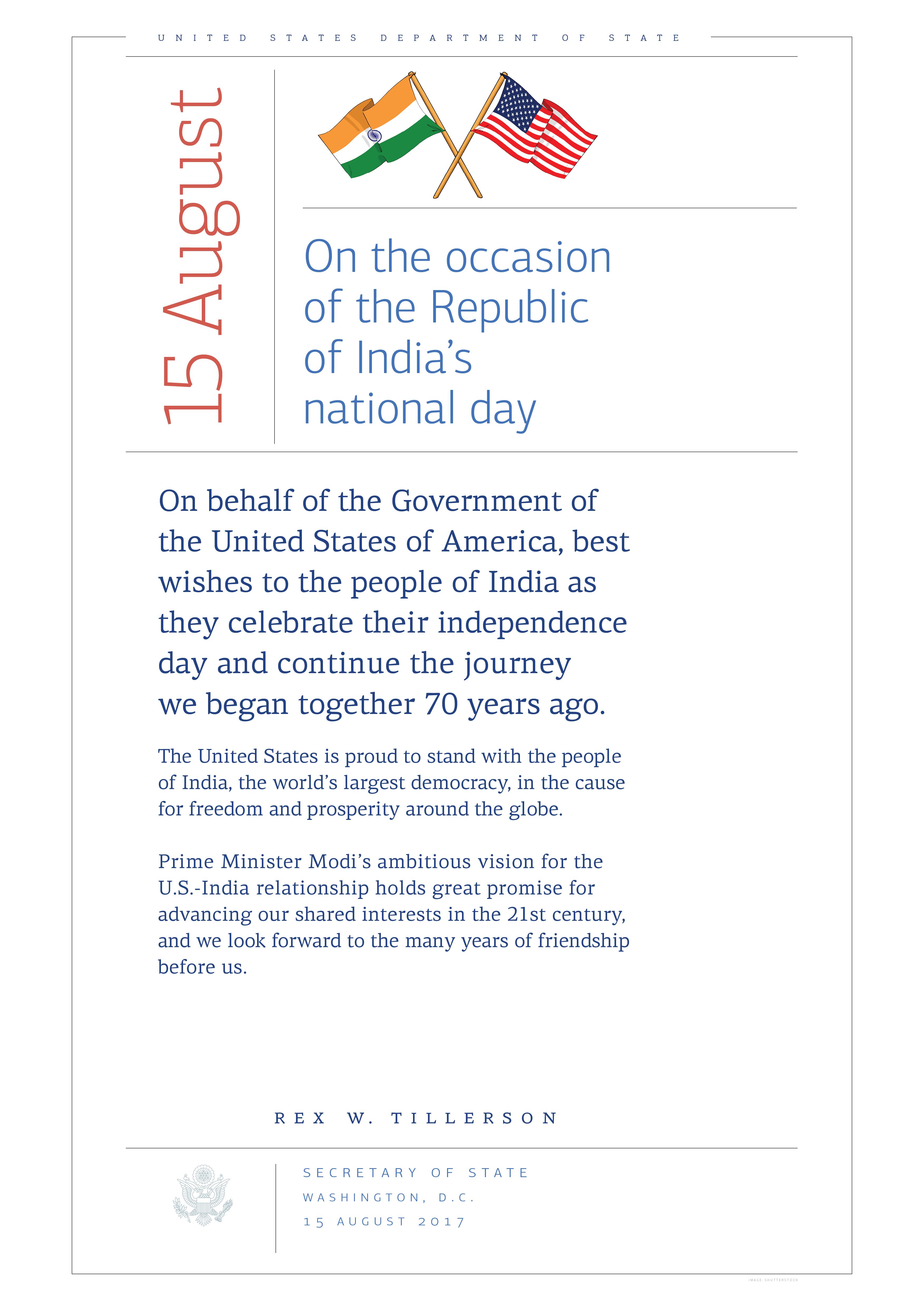 India National Day | ShareAmerica