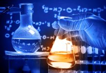 Beakers and equations (Shutterstock)