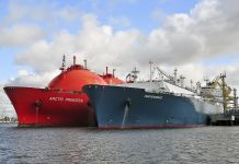Two tanker ships in water (Shutterstock)