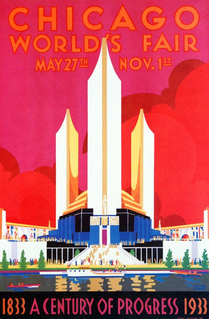 Chicago World's Fair 1933 art deco poster (Alamy)