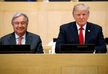 António Guterres and President Trump next to each other (© AP Images)