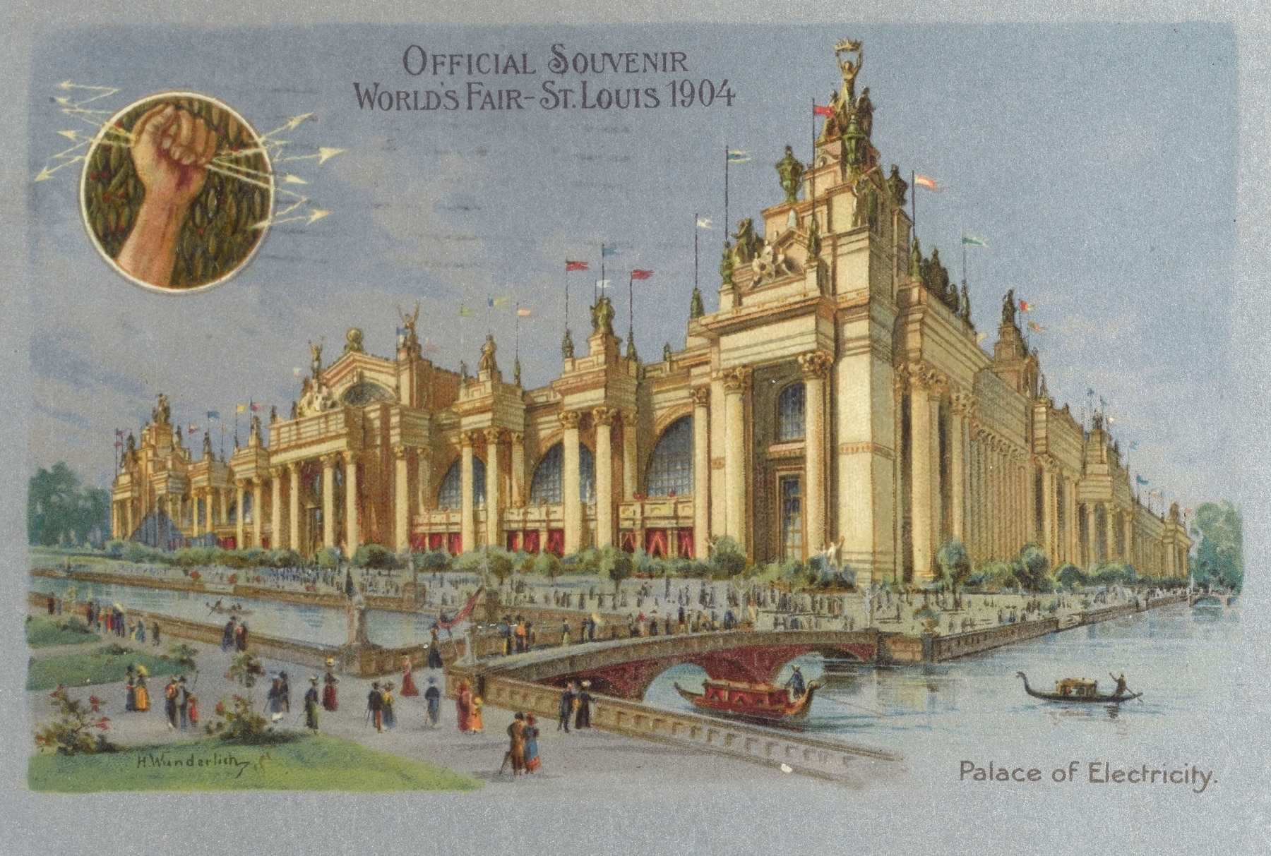Poster from 1904 St Louis World's Fair showing palace (Alamy)