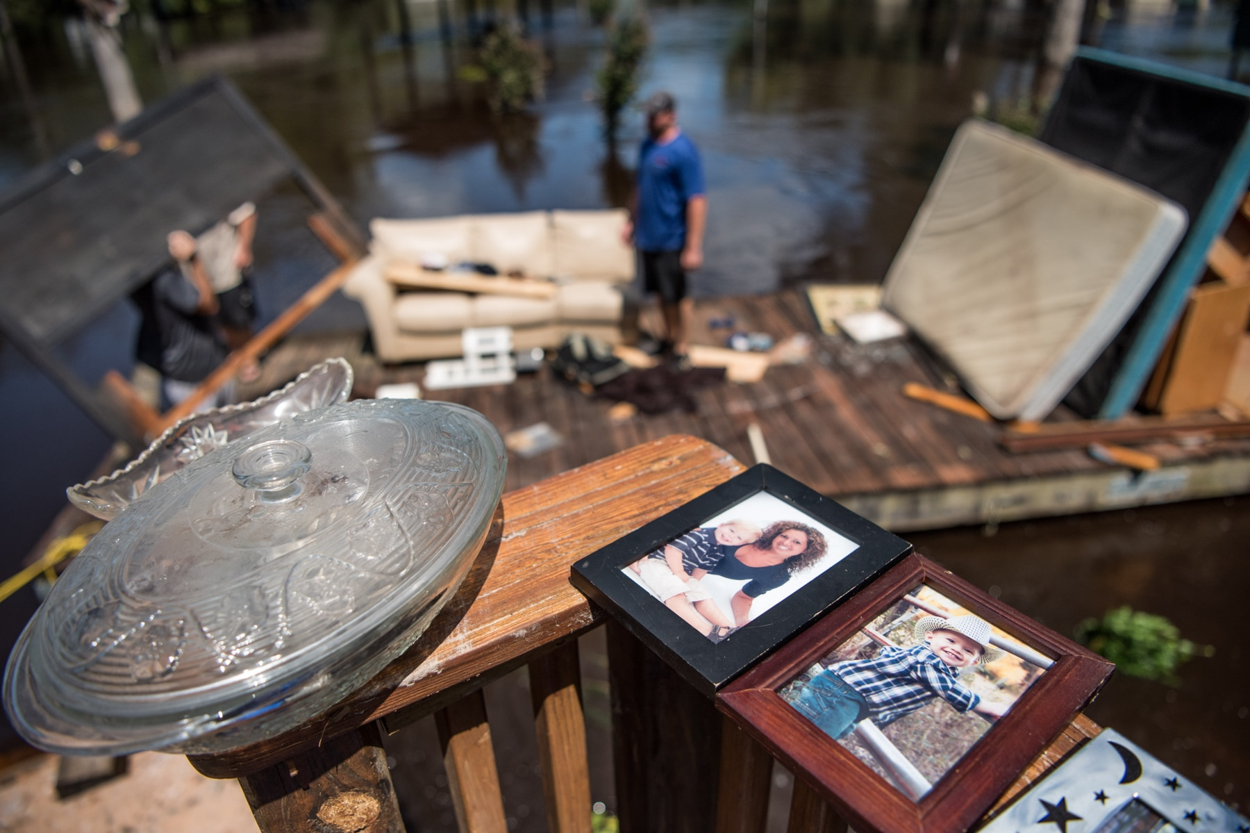 Glass dishes and photographs drying in sun (© Sean Rayford/Getty Images)