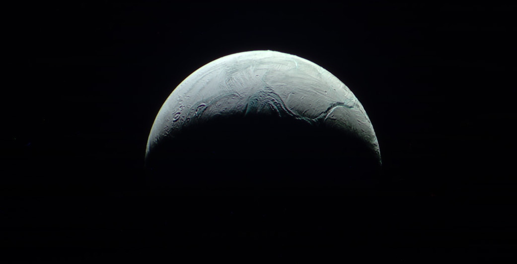 Saturn's moon Enceladus (NASA)