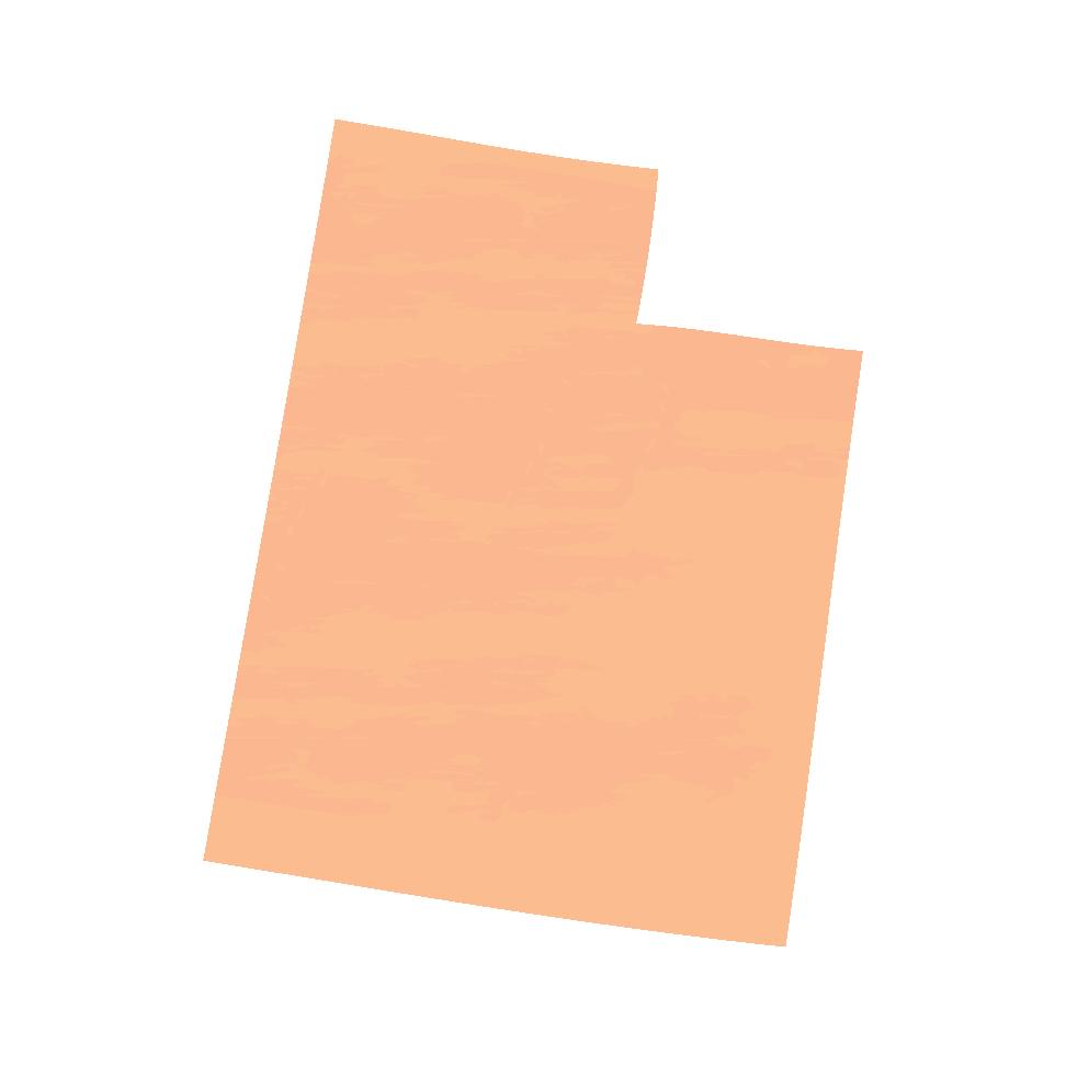 Silhouette of Utah