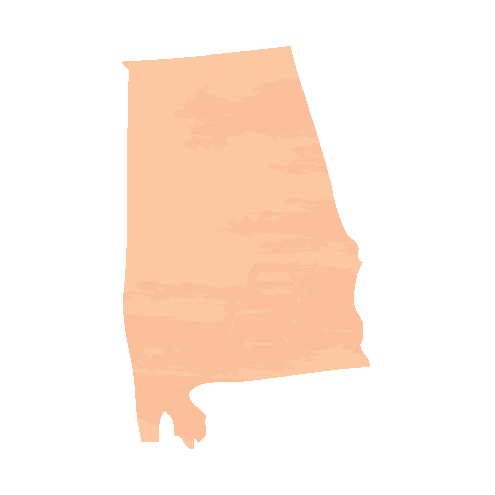 Mapa de contorno do Alabama