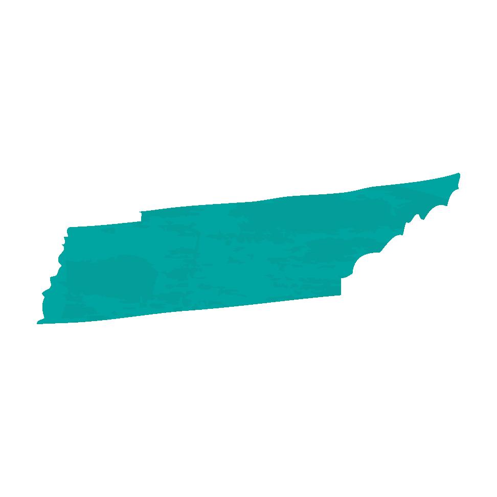 Carte du Tennessee